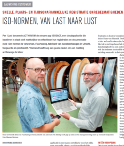 artikel gebruikerservaring ISO2ACT bij Fluor Tubing - artikel in Link magazine